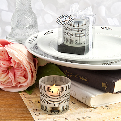 Musical Note Design Candles 176-CAN