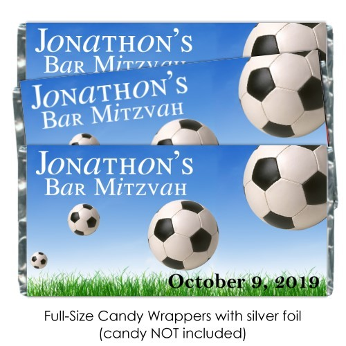 Soccer Candy Bar Wrappers 128-Jsoccer