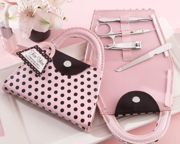 'Pink Polka Purse' Manicure Set 401-G
