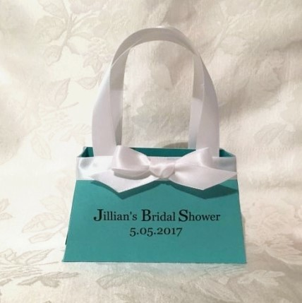 Tiffany Inspired Purse Favor Bags 163-SB