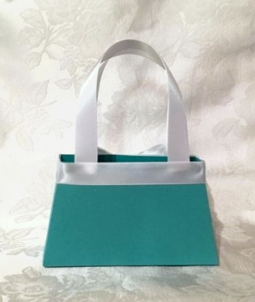 Tiffany Inspired Purse Favor Bags