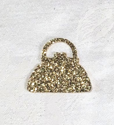 Purse Shaped Glitter Confetti (100 Pieces) 133-PURSE