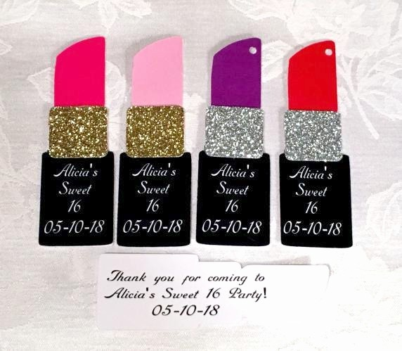 Lipstick Shaped Party Favor Tags Personalized 218-SHOE