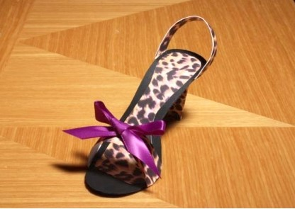 Leopard Stiletto Favor Boxes