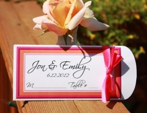 Simple Lottery Ticket Place Card Holders 156-PF