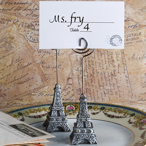From Paris With Love Collection Eiffel Tower Place Card Holder Favors 634-PCH