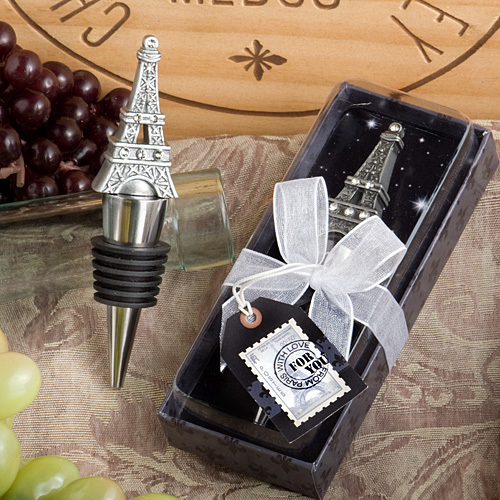 From Paris with Love Collection Eiffel Tower Wine Bottle Stopper Favors 162-U