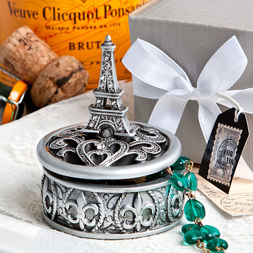 Eiffel Tower Design Curio Box Favors 102-PARIS