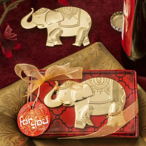 Good Fortune Elephant Design Gold Metal Bottle Opener 152-IF