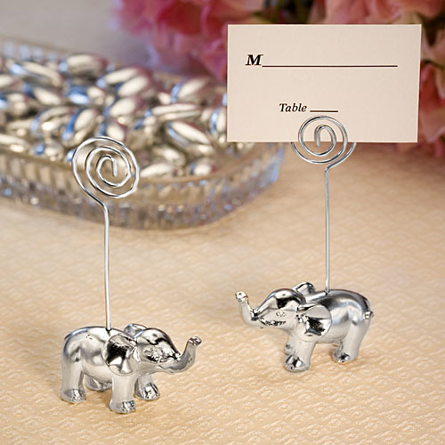 Silver Finish Elephant Place Card Holders 653-PCH