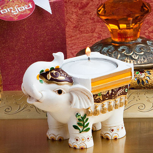 Good Luck Elephant Candle Holders 145-CAN