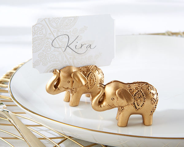 Lucky Golden Elephant Place Card Holders (Set of 6) 144-IF