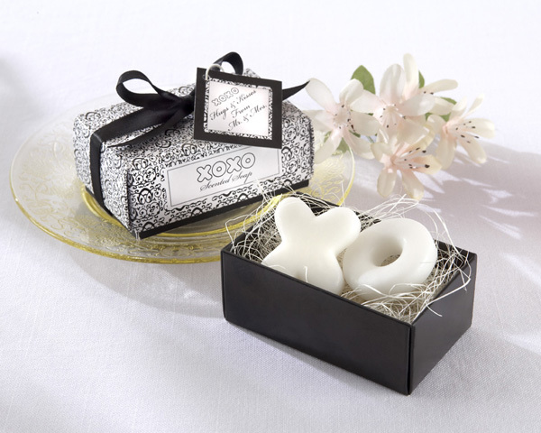 """""""Hugs & Kisses From Mr. and Mrs."""" Scented Soaps 356-SOAP FAVORS"""