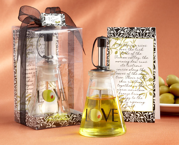 """""""Olive You!"""" Glass LOVE Oil Bottle in Signature Tuscan Box 142-W"""