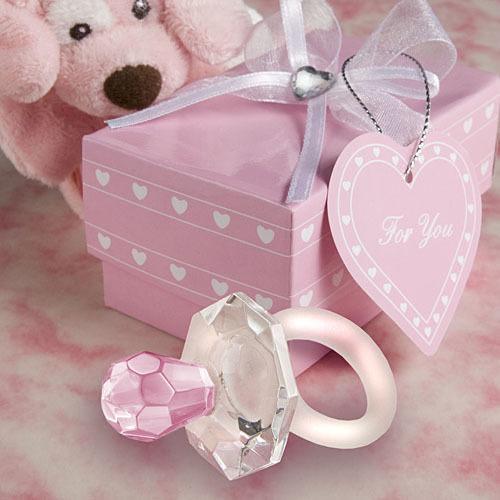 Choice Crystal Pink Pacifier Favors 248-BABY