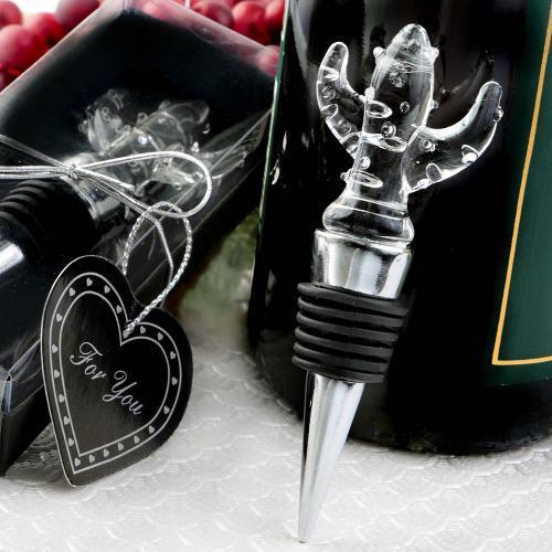 Choice Crystal Cactus Design Bottle Stopper 369-WINE