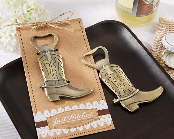 """Just Hitched"" Cowboy Boot Bottle Opener 230-W"