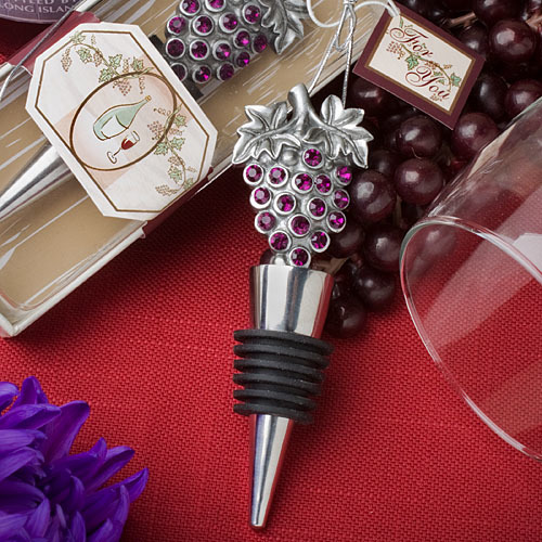 Vineyard Collection Wine Bottle Stopper Favors 241-WINE