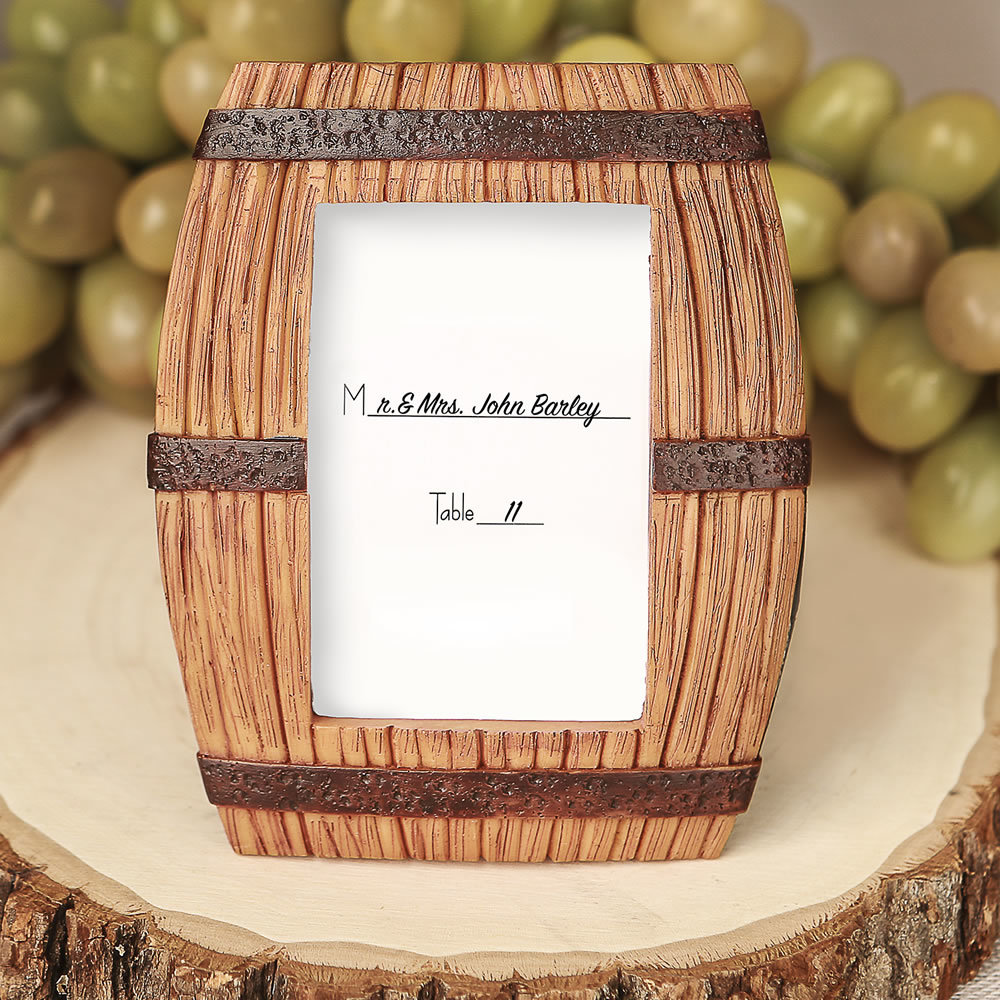 Wine Barrel Themed Place Card Frame / Picture Frame 244-WINE