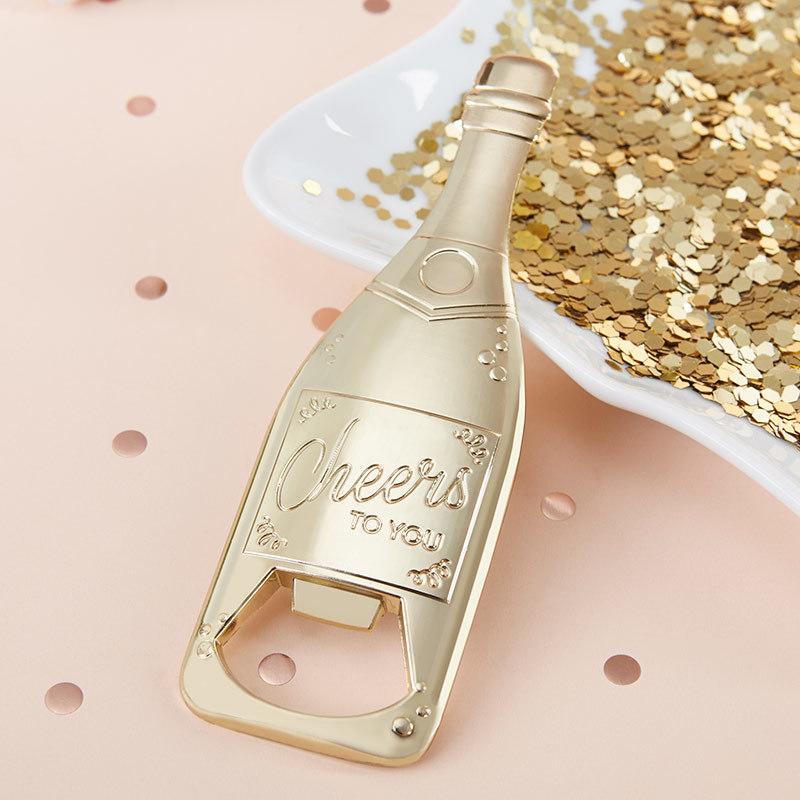 Gold Champagne Shaped Bottle Opener 377-WINE