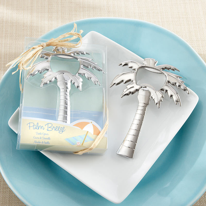 """Palm Breeze"" Chrome Palm Tree Bottle Opener 217-W"