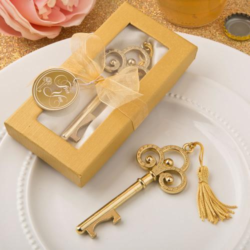 Gold Vintage Skeleton Key Bottle Opener 280-WINE