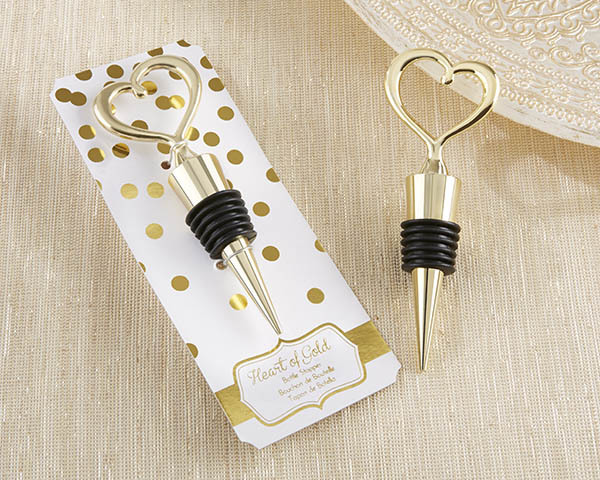 """Heart of Gold"" Bottle Stopper 245-WINE"