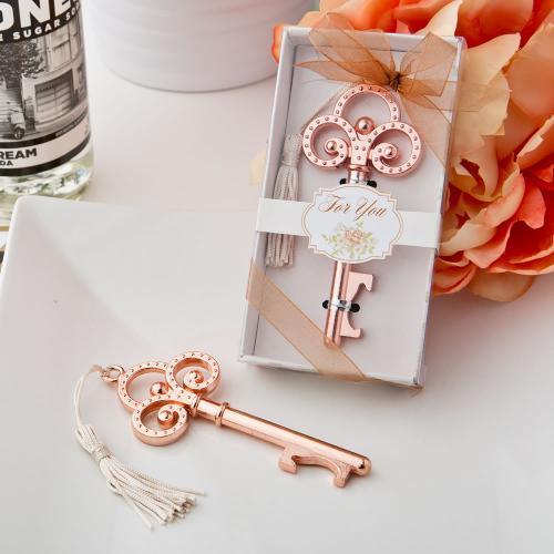 Rose Gold Vintage Skeleton Key Bottle Opener 300-WINE