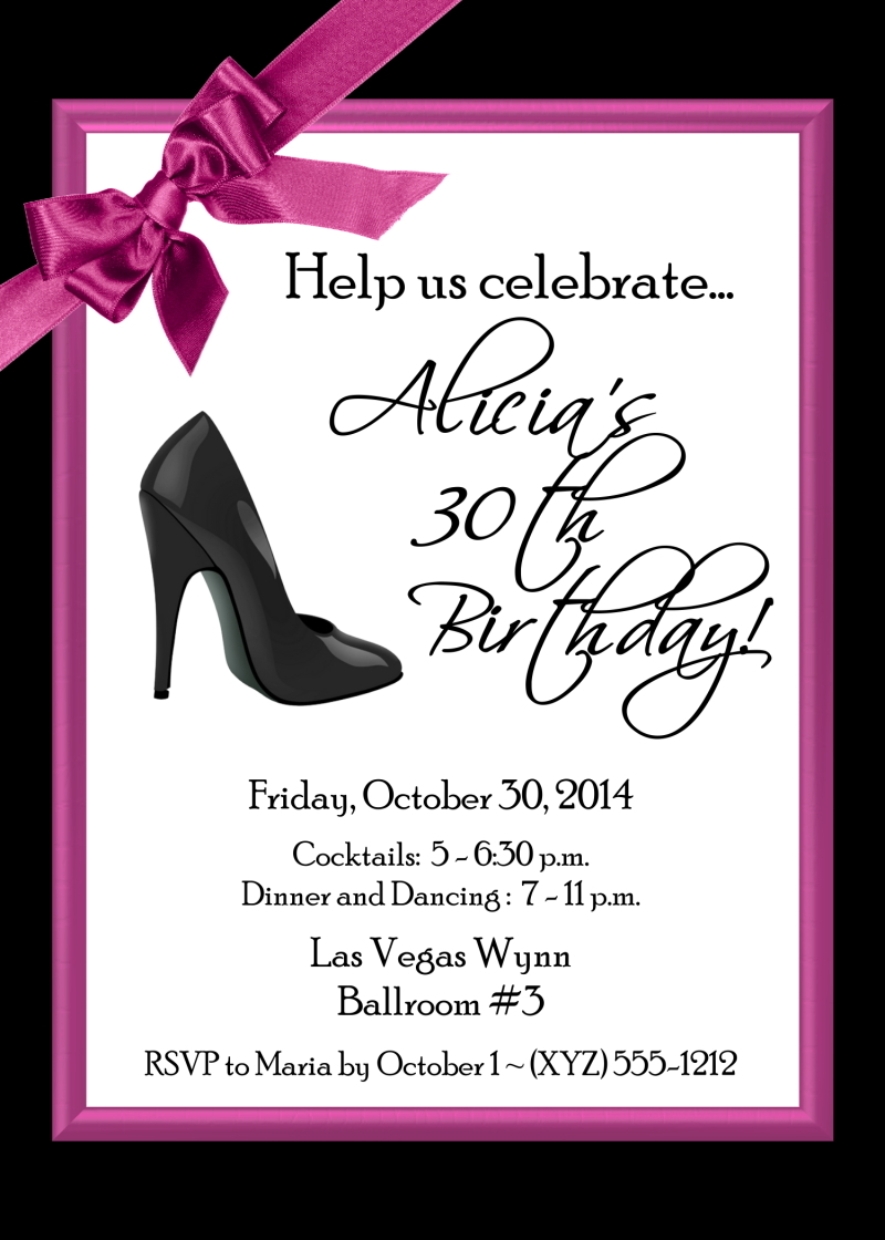"High Heel Invitations 5"" x 7"" 180-SHOE"