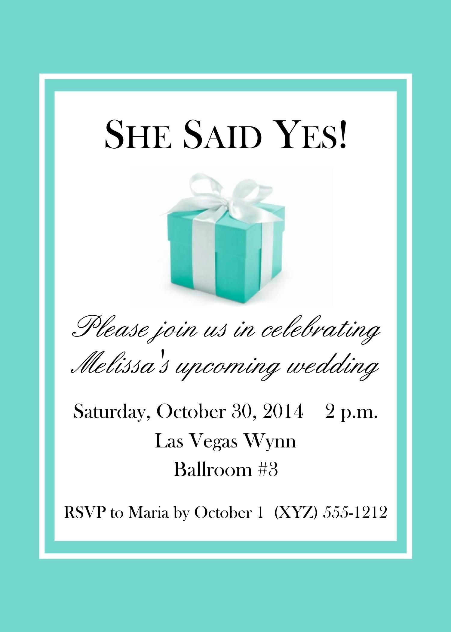 Tiffany Box Style Invitations, 5x7 118-BlueBox