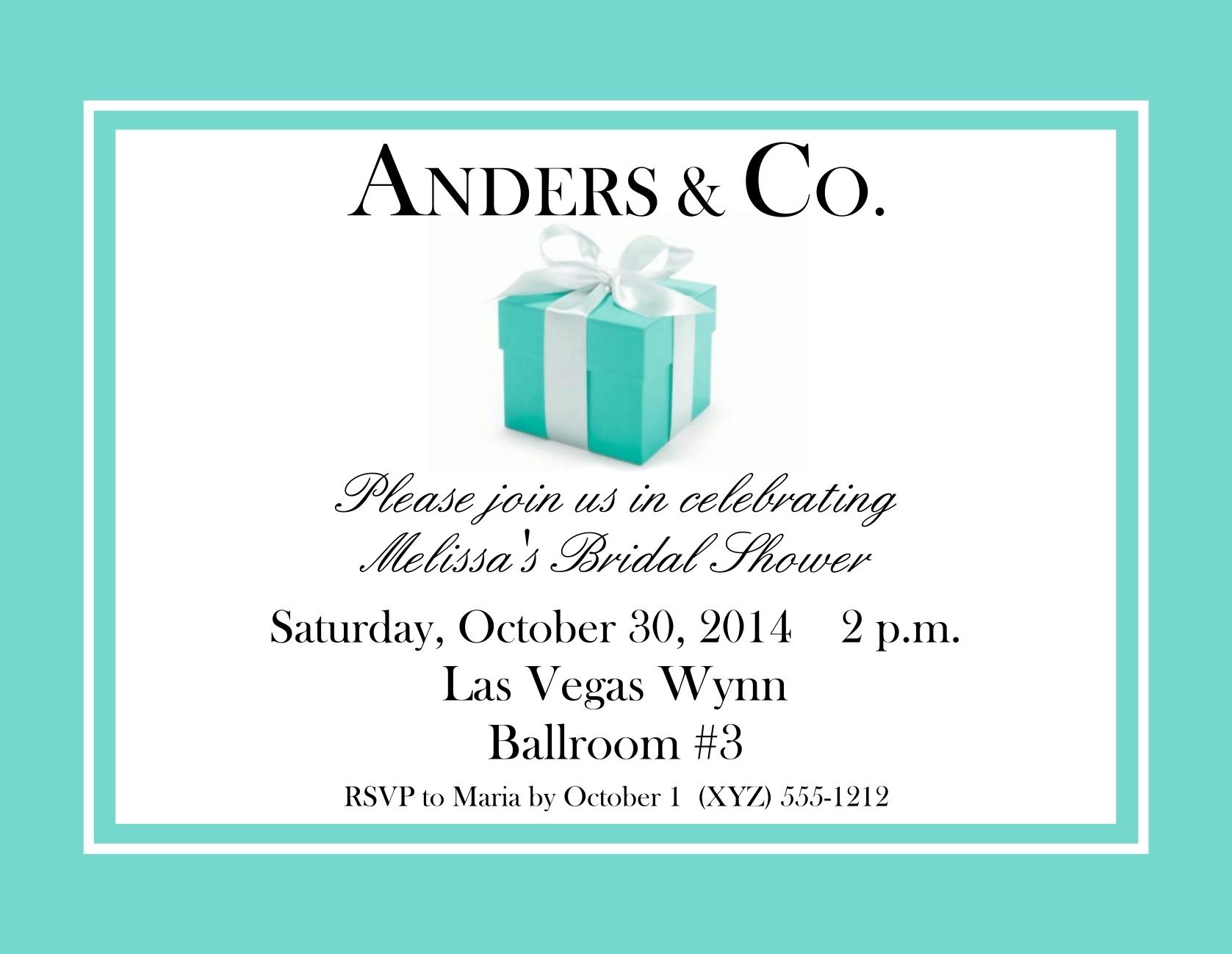 Tiffany Style Bridal Shower Postcard Invitations 138-SB