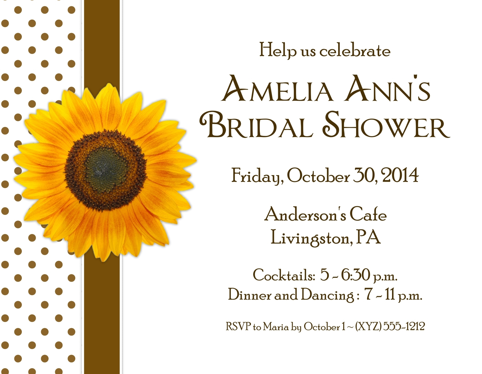 Sunflower Party Invitations with Envelopes