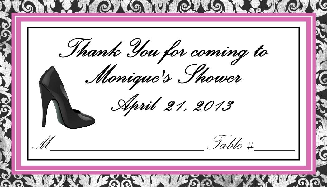 High Heel Place Cards - Flat or Tent Style 160-SHOE
