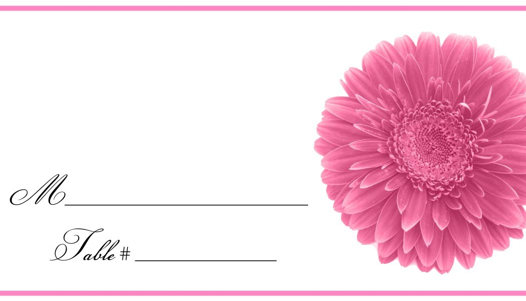 Daisy Place Cards - Flat or Tent Style 130-DAISY