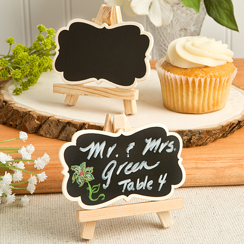 Natural Wood Easel and Blackboard Place Card Holder 783-PCH