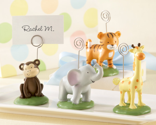 """Born To Be Wild"" Animal Place Card/Photo Holders (Set of Four Assorted) 169-BABYPC"