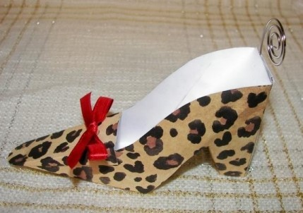 Leopard Shoe Place Card Holders 173-Z