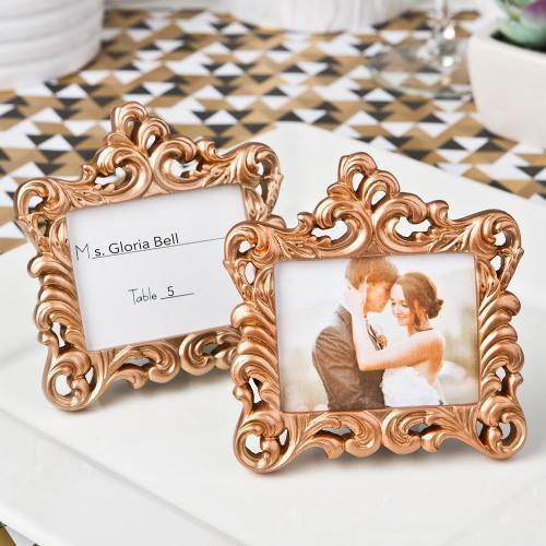 Rose Gold Baroque Style Frame Favor 764-PCH