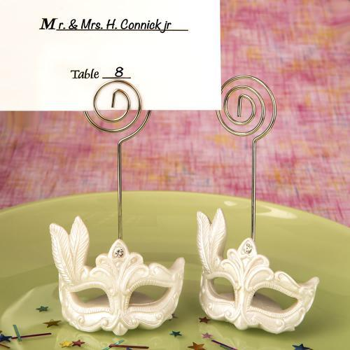 Mardi Gras Mask Themed Place Card Holders 776-PCH