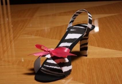 Zebra Stiletto Favor Boxes
