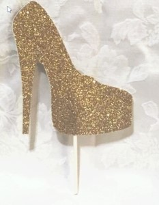 Glitter Shoe Cake Topper (Many Colors!) 145-SHOE