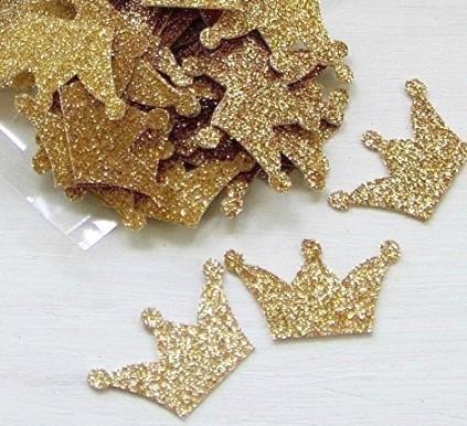 Glitter Crown Confetti (100 Pieces) 131-DecorEssential