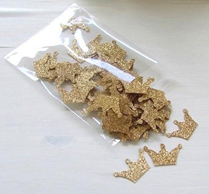 Glitter Crown Confetti (100 Pieces)
