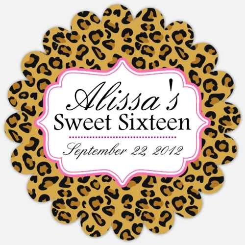 Leopard Favor Tags 217-Z
