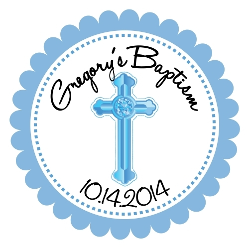 Personalized Baptism Favor Tags 188-BC