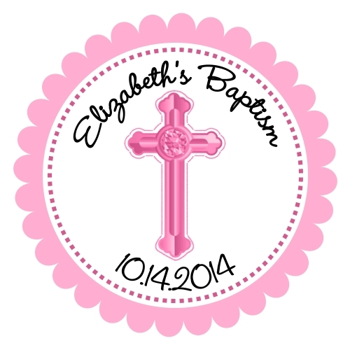 Personalized Baptism Favor Tags