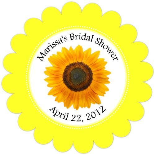 Personalized Sunflower Favor Tags 125-SUNFLOWER