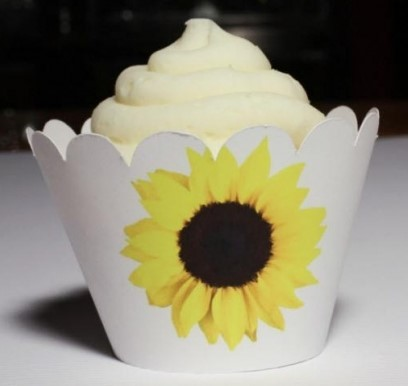 Sunflower Cupcake Wrappers 118-SUNFLOWER