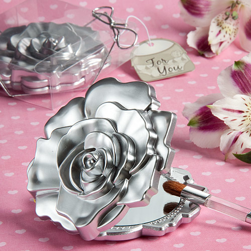 Realistic Rose Design Mirror Compacts 149-BEAUTY