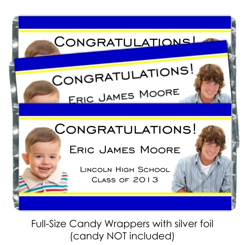 Graduation Candy Wrappers with Photo(s) 115-Grad